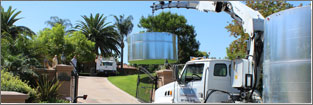 Water Storage Tank Delivery & Setup
